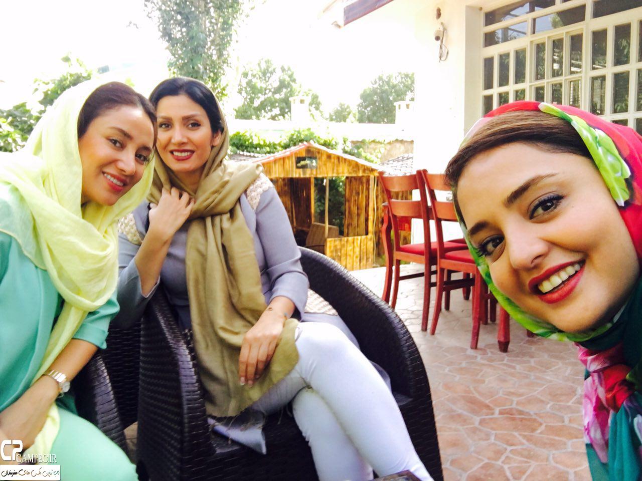 بهاره افشاری و نرگس محمدی در کافه رستوران