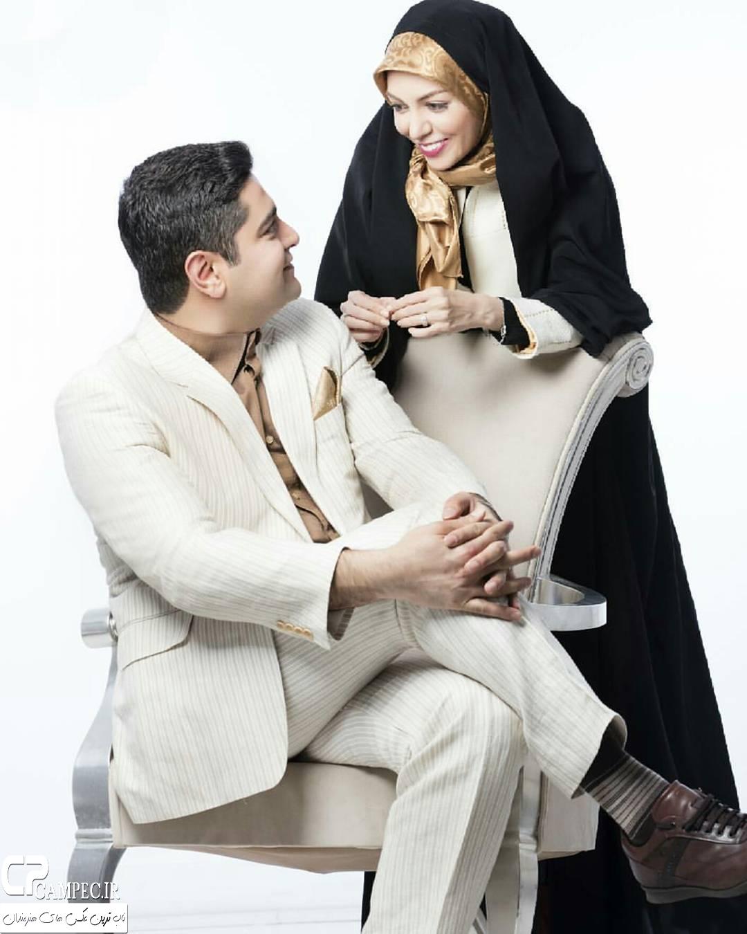 آزاده نامداری با همسرش سجاد عبادی