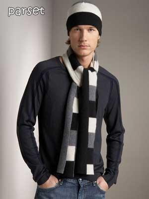شال گردن بافتنی زیبا مردانه