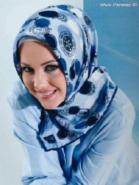 روسری آبی زنانه شیک