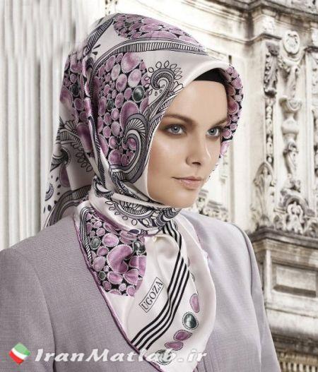 روسری بنفش جدید