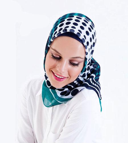 روسری مارکدار آبی زنانه