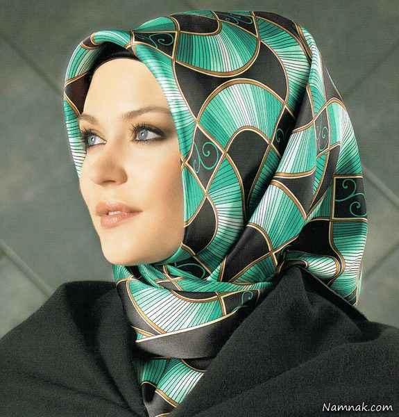 روسری و شال کرمان سبز