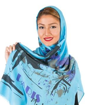 شال و روسری کنزو آبی