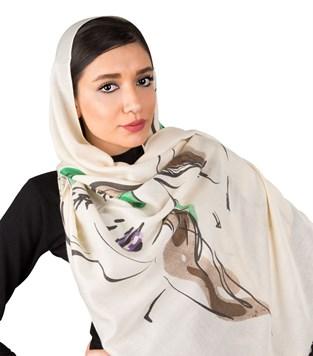 شال و روسری کنزو سفید