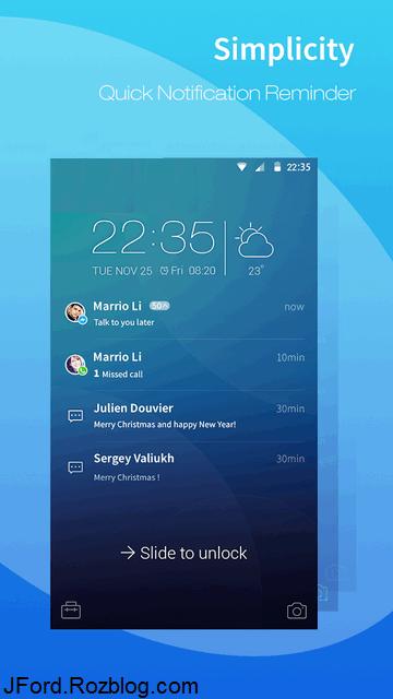 CM Locker Secure Notifications 4.1.8 قفل صفحه گوشی اندروید