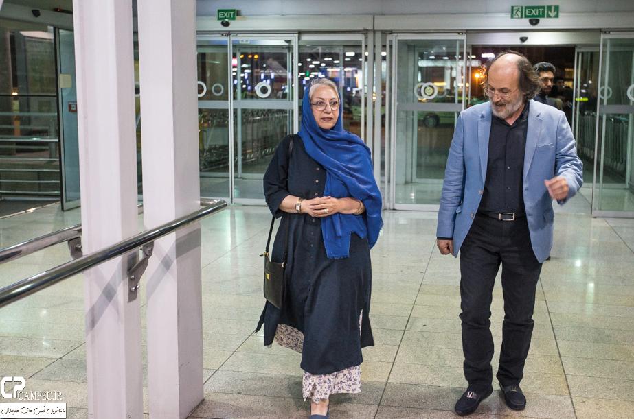 مراسم استقبال از هنرمندان فیلم فروشنده در فرودگاه امام