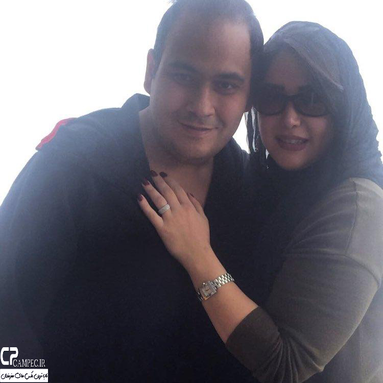 عکس رضا داود نژاد با همسرش غزل بدیعی