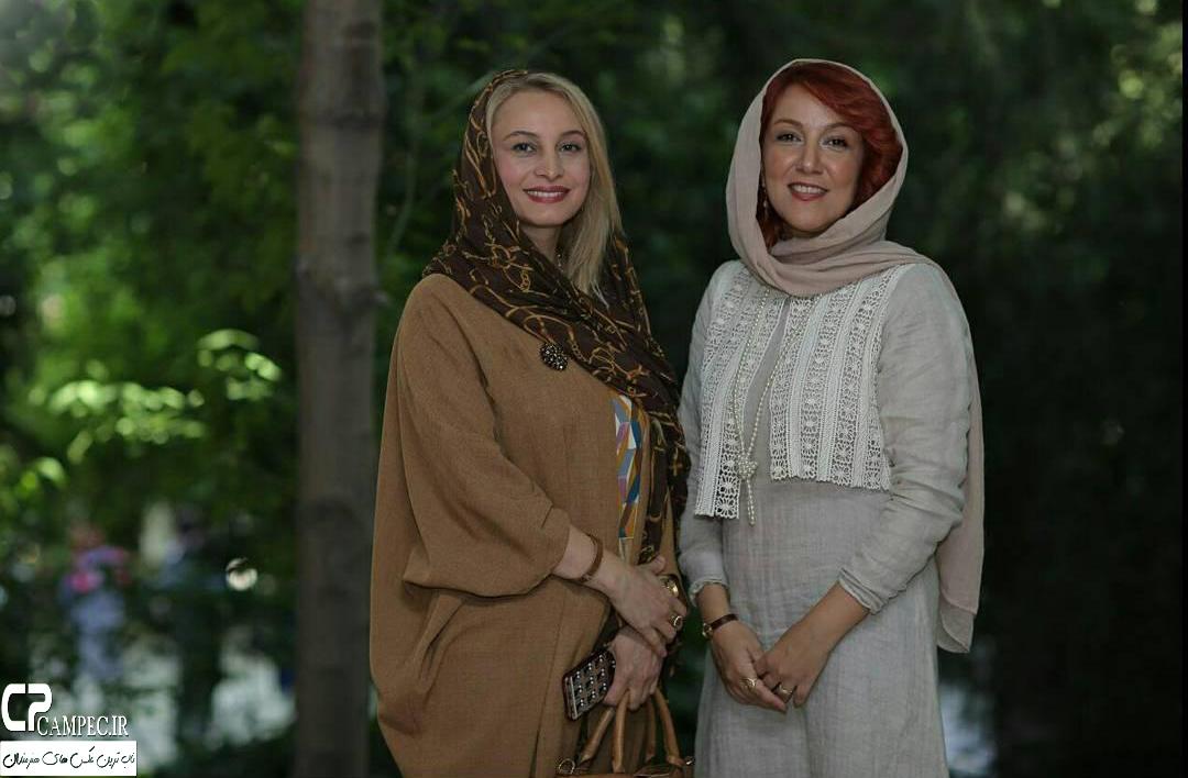 پانته آ بهرام و مریم کاویانی در افتتاحیه نمایشگاه زن و زمین