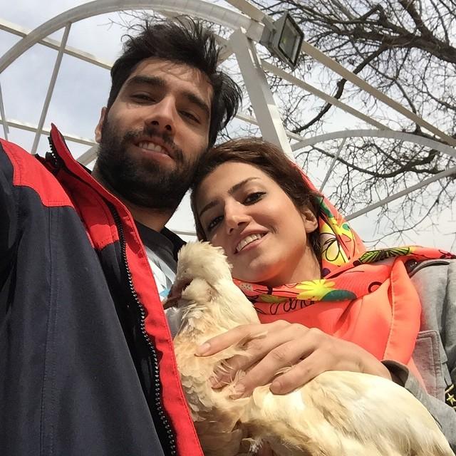 عکس شخصی سید محمد موسوی با خواهرش
