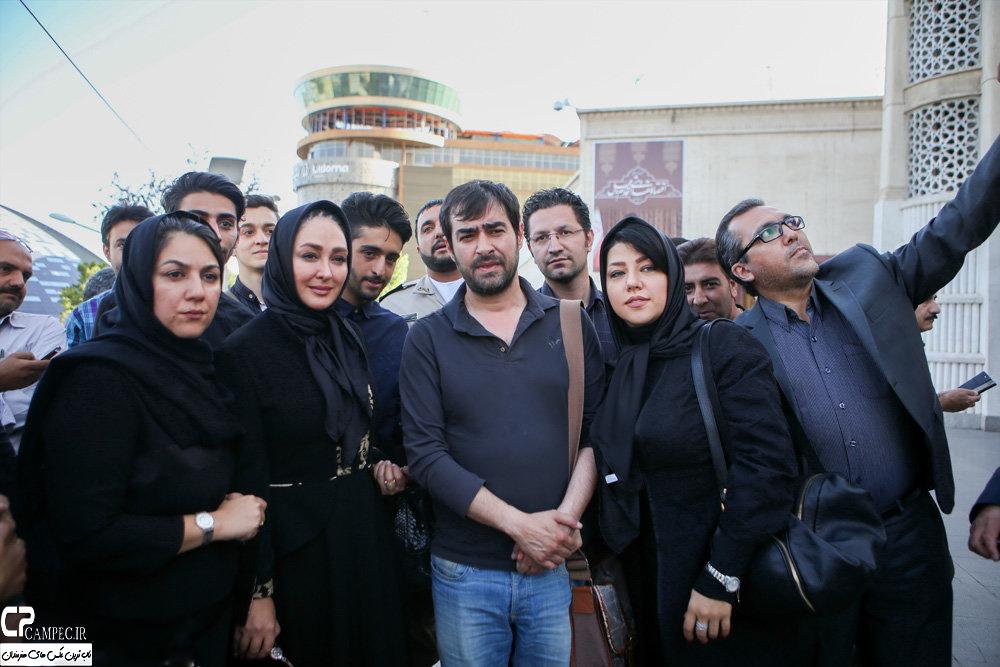 هنرمندان سریال شوق پرواز در مراسم ختم همسر شهید بابایی