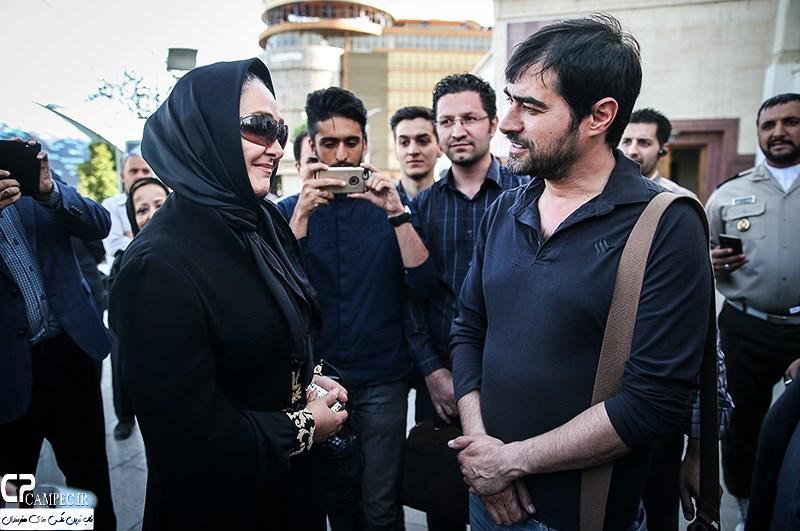 شهاب حسینی و الهام حمیدی در مراسم ختم همسر شهید بابایی