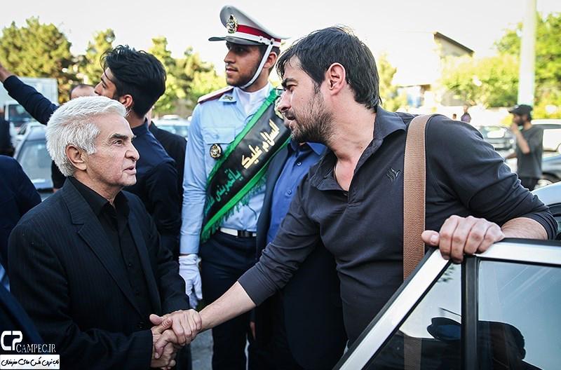 شهاب حسینی در مراسم ختم همسر شهید بابایی