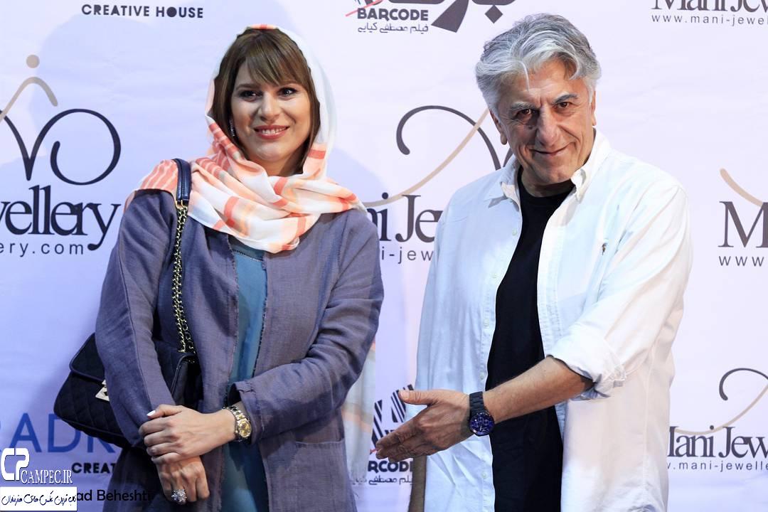 سحر دولتشاهی با رضا کیانیان در اکران فیلم بارکد