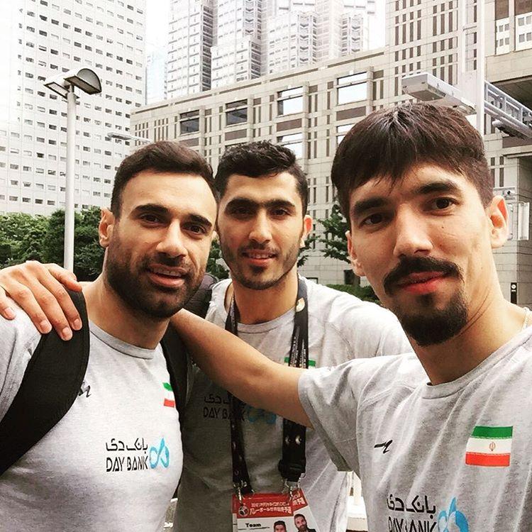 عال غلامی با بازیکنان تیم ملی والیبال