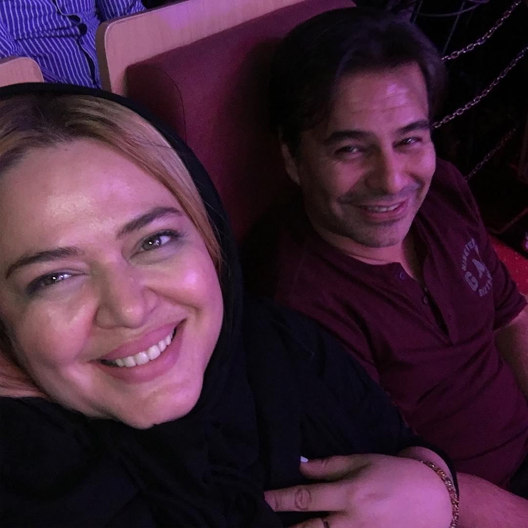 بهاره رهنما با همسرش در کنسرت