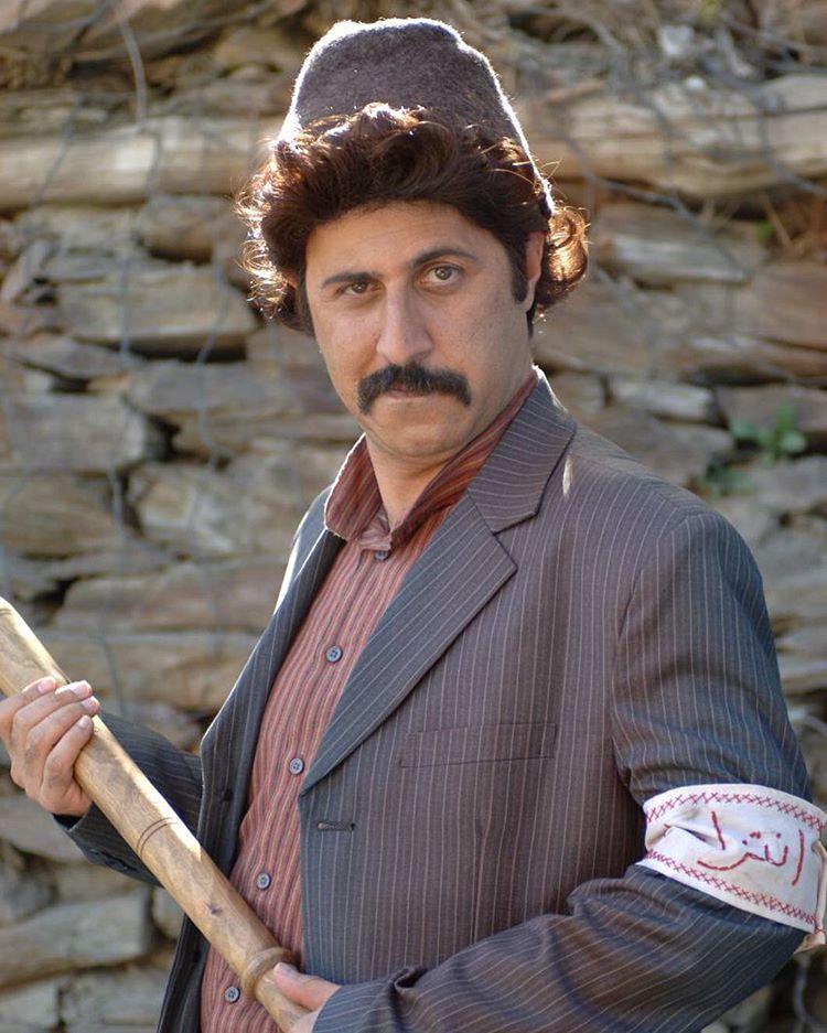 هومن حاجی عبداللهی با گریم سریال علي البدل