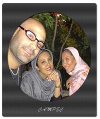 حدیثه تهرانی با همسر و تیما پور رحمانی