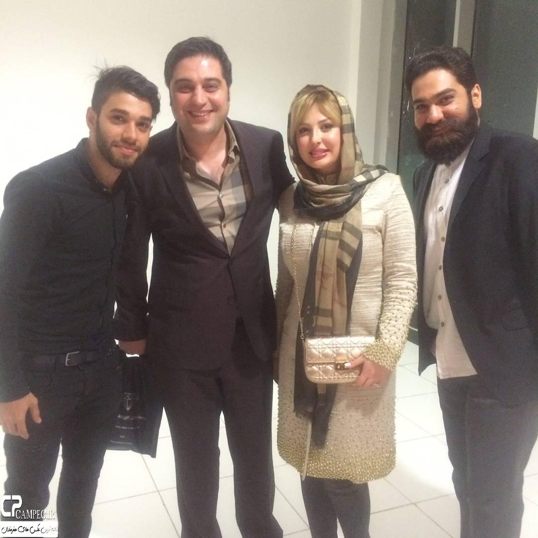 نیوشا ضیغمی در جشن تولد احمد رضا عابدزاده