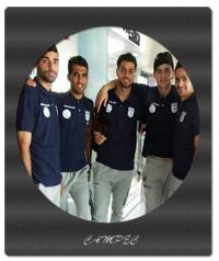 یازیکنان تیم ملی فوتبال ایرانی در فرودگاه ترکیه