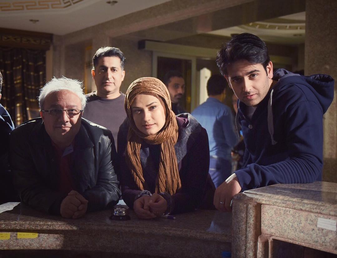 امیر حسین آرمان در پشت صحنه سریال پریا