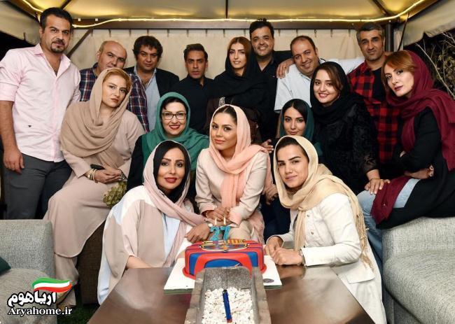 عکس های جشن تولد آزاده زارعی با حضور بازیگران