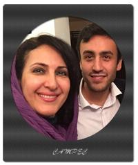 فاطمه گودرزی و پسرش در حرم امام رضا