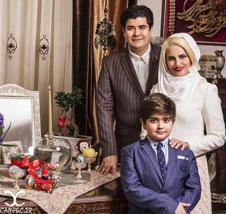 سالار عقیلی و همسر و پسرش