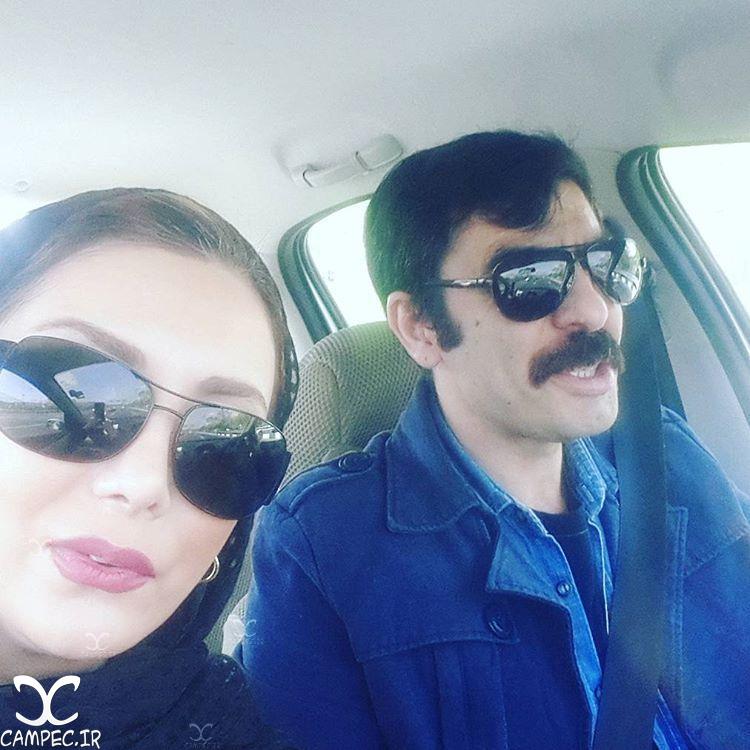 عکس رویا میر علمی با همسرش حسین کیانی