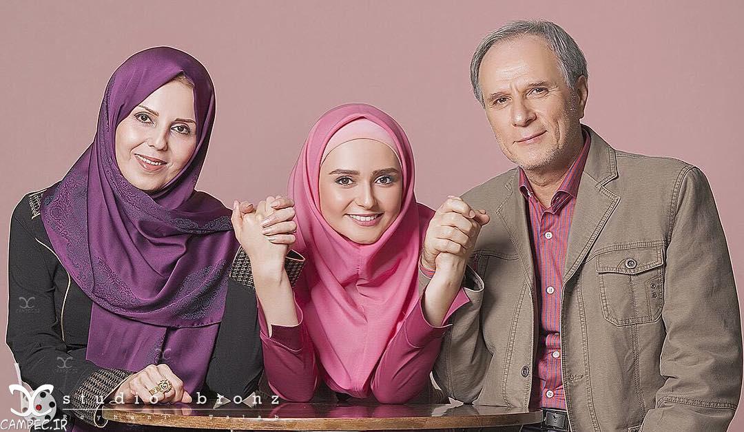 عکس کیمیا گیلانی با پدر و مادرش