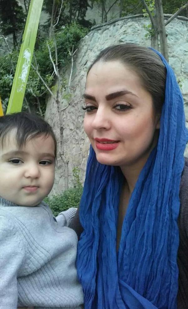 سپیده خداوردی با پسرش سانیار