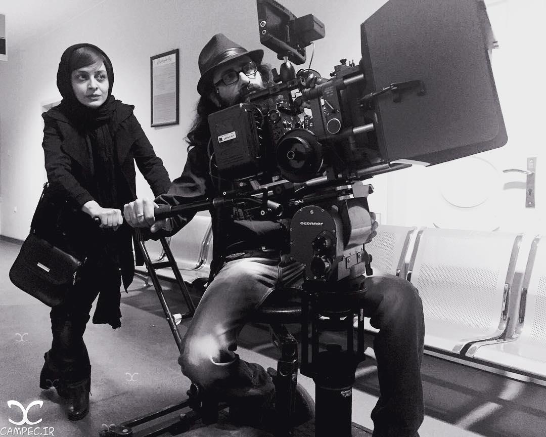 ساره بیات در پشت صحنه فیلم جدیدش