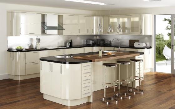 کابینت مدرن آشپزخانه استخوانی