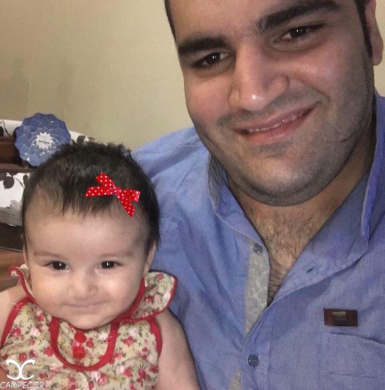 بهداد سلیمی با دخترش سلین