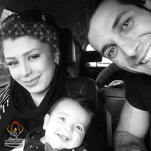عکس آرمین تشکری و همسر و فرزندش