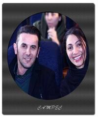 بیوگرافی کامل و عکسهای امین حیایی با همسرش