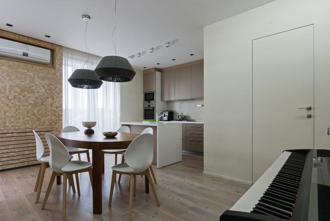 آشپزخانه کوچک و نهارخوری