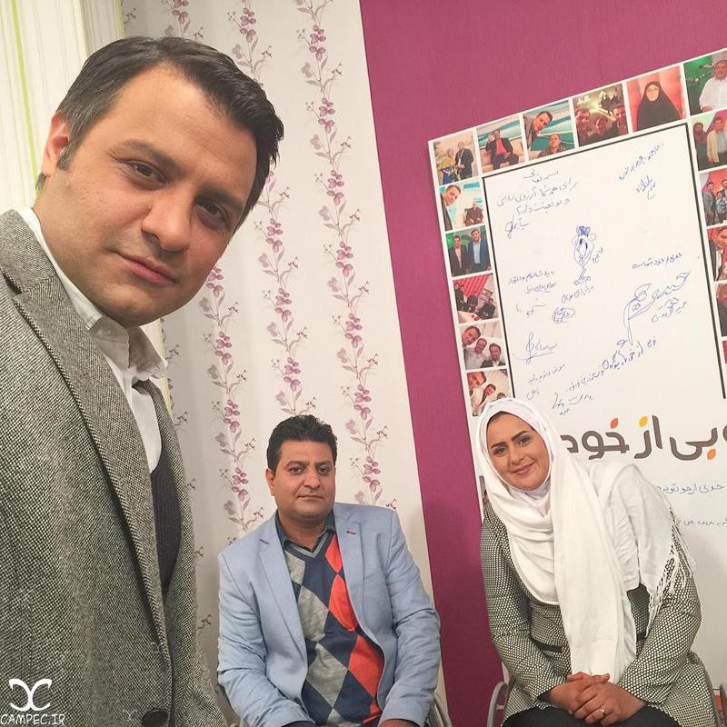 زهرا نعمتی و همسرش رهام شهابی پور