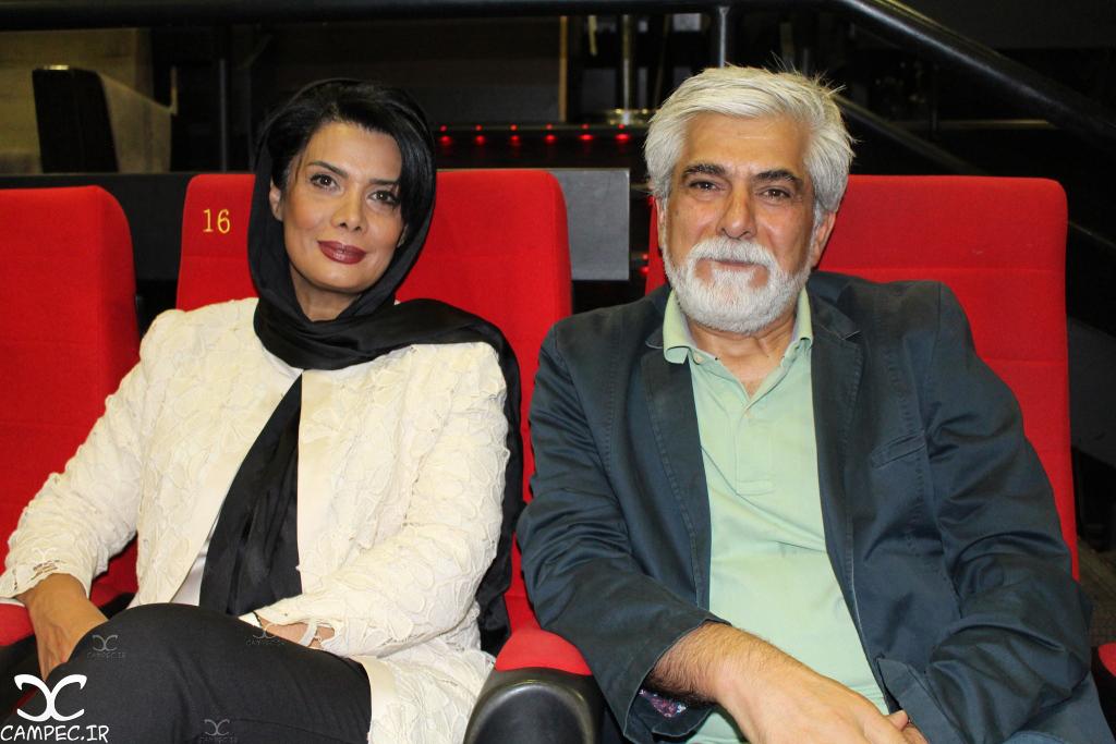 حسین پاکدل و عاطفه رضوی در اکران فیلم ایستاده در غبار