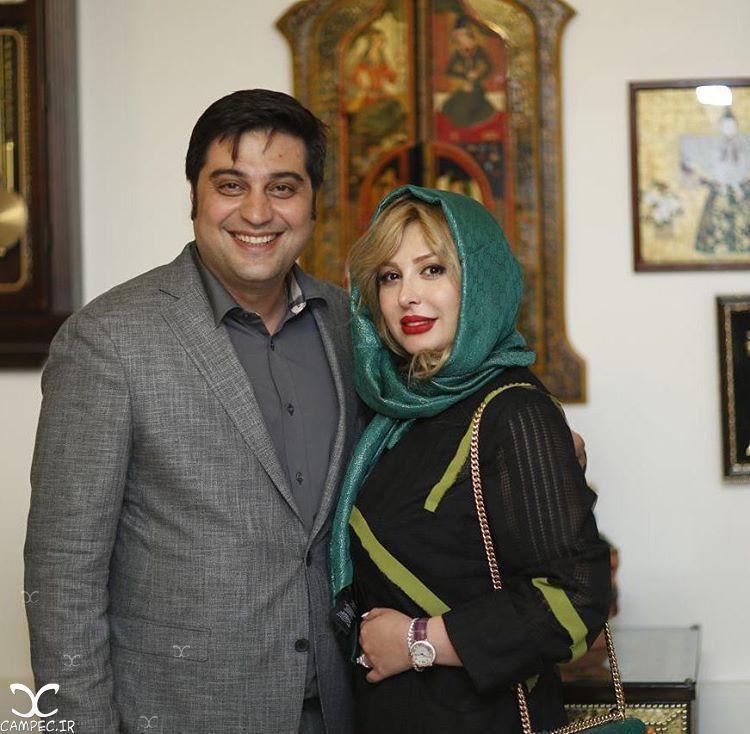 نیوشا ضیغمی با همسرش آرش پولاد خان