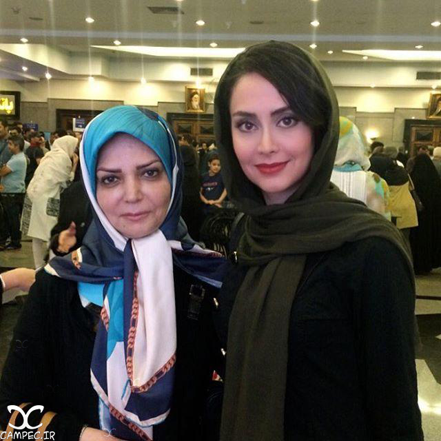 مریم خدارحمی و الهه رضایی در مراسم تقدیر از ملی پوشان والیبال