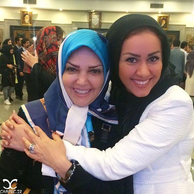 مریم وطن پور و الهه رضایی در مراسم تقدیر از ملی پوشان والیبال