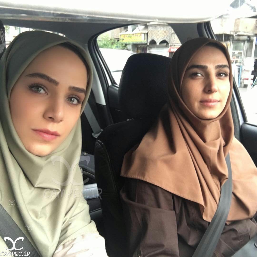 زهرا فراهانی و سوگل طهماسبی در پشت صحنه سریال برادر