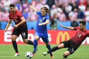 لوکا مودریچ  بهترین بازیکن دیدار با ترکیه شد , فوتبال اروپا