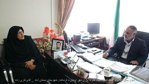 دیدار مدیر عامل و هیئت مدیره بنیاد خیریه یاران مهر اوجان با فرماندار شهرستان بستان آباد ( آقای قاری زاده )