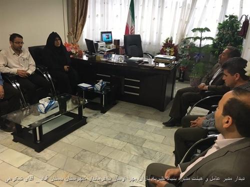 دیدار مدیر عامل و هیئت مدیره بنیاد خیریه یاران مهر اوجان با فرماندار شهرستان بستان آباد (آقای شکوهی)