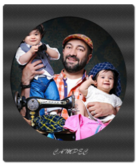 عکسهای مجید صالحی با فرزندان دوقلوش آروین و حنا+بیوگرافی