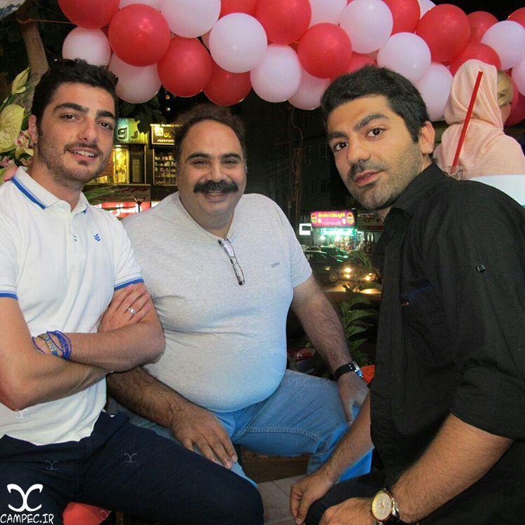 علی کاظمی و کاوه آهنگر در افتتاحیه نوتلا پلاس