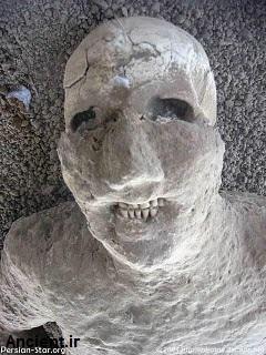 مردم سنگ شده شهر پمپی در موزه طبیعی شهر پمپی