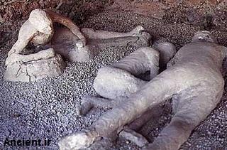 مردم سنگ شده شهر پمپی در موزه طبیعی